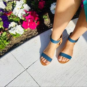 Shoes - Denim and Tan Sandals